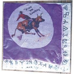 silk 39-40's Ride Em Cowboy scarf