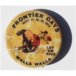 1914 Walla Walla Frontier Days rodeo pin, rare and in excellent condition