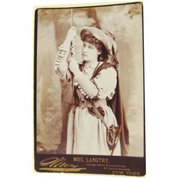 Old Lilly Langtree cabinet card and photo of Judge Roy Bean
