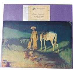 1912 Fred Remington artist's proof with documentations