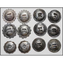 12 silver conchos