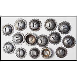 14 silver Visalia conchos