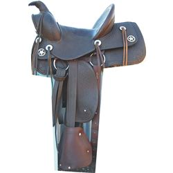 awesome Heydt & Streib childs saddle, basket stamped with taps