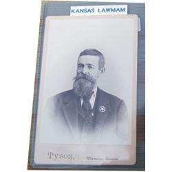 old Kansas lawman cabinet card
