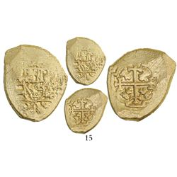 Mexico City, Mexico, cob 2 escudos, (1711-13)(J), from the 1715 Fleet.