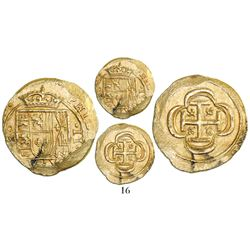 Mexico City, Mexico, cob 2 escudos, (171)4(J), from the 1715 Fleet.