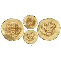 Mexico City, Mexico, cob 2 escudos, (1714)J, from the 1715 Fleet, ex-Schulman auction (1972).