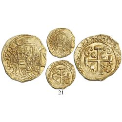 Mexico City, Mexico, cob 1 escudo, 1711J,  1712 style  reverse, Royal-like, from the 1715 Fleet, enc