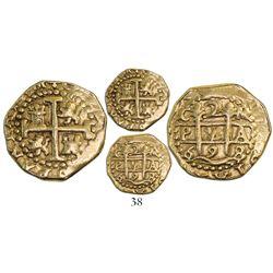 Cuzco, Peru, cob 2 escudos, 1698M.