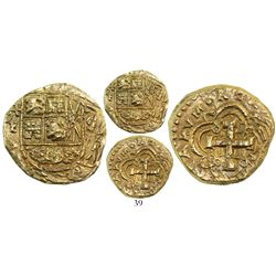Bogota, Colombia, cob 4 escudos, Philip V, assayer S to right (style of 1744-6), mintmark F to left,