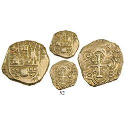 Bogota, Colombia, cob 2 escudos, Philip V, assayer not visible (1720s).