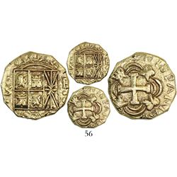 Bogota, Colombia, cob 2 escudos, Ferdinand VI, assayer S to left, mintmark F-S to right (ca. 1750).