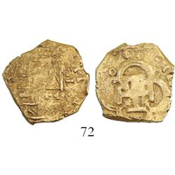 Seville, Spain, cob 2 escudos, 1612(?), assayer not visible.