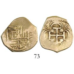 Seville, Spain, cob 2 escudos, Philip III, assayer B(?).