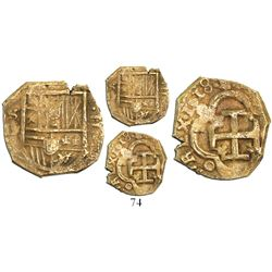 Seville, Spain, cob 2 escudos, 1618D, very rare as from the Atocha (1622), with old, hand-signed Fis