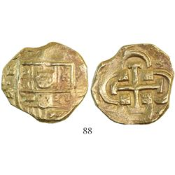 Seville, Spain, cob 8 escudos, Philip IV, assayer R/BR(?).