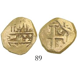 Seville, Spain, cob 2 escudos, Philip IV, assayer not visible.