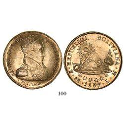 Potosi, Bolivia, 8 scudos, 1837LM.