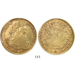 Santiago, Chile, bust 8 escudos, Ferdinand VII (bust of Charles IV), 1813FJ, encapsulated PCGS XF45.