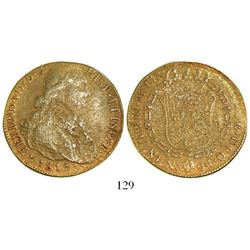 Bogota, Colombia, bust 8 escudos, Ferdinand VII (bust of Charles IV), 1815JF, from Shipwreck