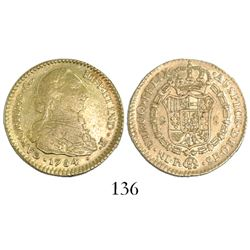 Popayan, Colombia, bust 2 escudos, Charles III, 1784SF.