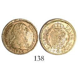 Popayan, Colombia, bust 1 escudo, Charles III, 1783SF.