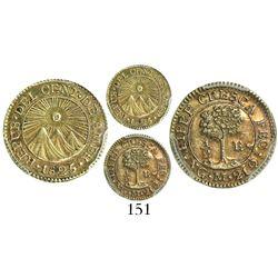 Guatemala (Central American Republic), 1/2 escudo, 1825M, encapsulated PCGS AU58.