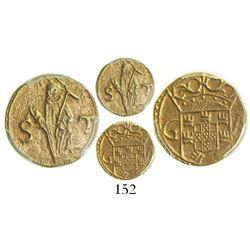 Goa, Portuguese India, 1 sao tome, Philip II (1580-98), encapsulated PCGS AU 50, from the Santiago (