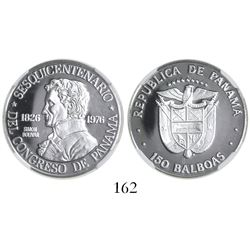 Panama (struck in Philadelphia), proof platinum 150 balboas, 1976, Sesquicentennial of the Congress