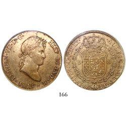 Lima, Peru, bust 8 escudos, Ferdinand VII, 1815JP, encapsulated NGC AU 50.