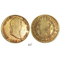 Lima, Peru, bust 8 escudos, Ferdinand VII, 1818JP.