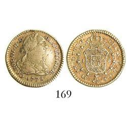 Lima, Peru, bust 1 escudo, Charles III, 1778MJ.