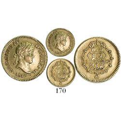 Lima, Peru, bust 1/2 escudo, Ferdinand VII, 1817JP.