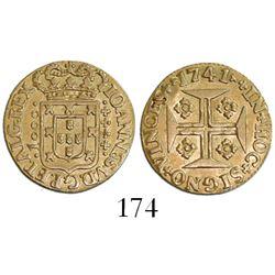Lisbon, Portugal, 1000 reis, Joao V, 1741.