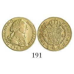 Madrid, Spain, bust 1 escudo, Charles III, 1781/0PJ.