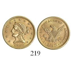USA (Philadelphia mint), $2.50 coronet Liberty, 1900.