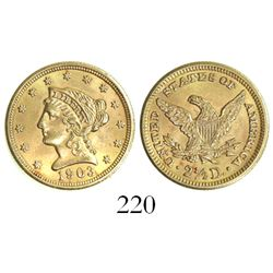 USA (Philadelphia mint), $2.50 coronet Liberty, 1903.