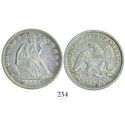 USA (Philadelphia mint), half dollar Seated Liberty, 1858.