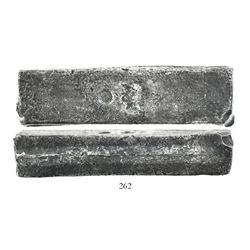 Neatly formed silver ingot from the Slot ter Hooge (1724), 1951 grams, about 98.5% fine, with stamps