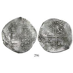 Potosi, Bolivia, cob 8 reales, (16)18PAL, Grade 1, rare.
