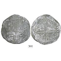 Potosi, Bolivia, cob 8 reales, 1(61)9(T), Grade 2.
