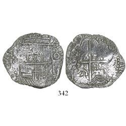 Potosi, Bolivia, cob 4 reales, (16)17(M), Grade 2.