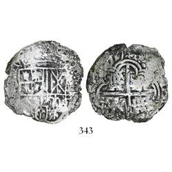 Potosi, Bolivia, cob 4 reales, (16)17(M), Grade 2 (estimated), original tag and certificate missing