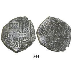 Potosi, Bolivia, cob 4 reales, (1618)PAL, Grade 3, rare.