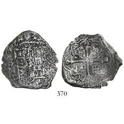 Mexico City, Mexico, cob 4 reales, (1)624/3/2D, rare.