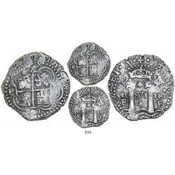 Potosi, Bolivia, cob 4 reales, 1652E Transitional, McLean Type II, rotated 4's for denomination, rar