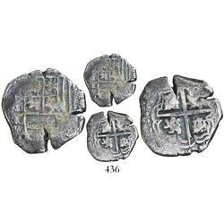 Potosi, Bolivia, cob 1 real, Philip IV, assayer T.