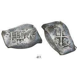 Mexico City, Mexico, cob 8 reales, (17)14/3(J), rare.