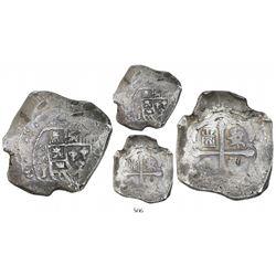 Mexico City, Mexico, cob 8 reales, 1715J.