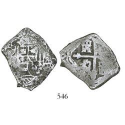 Mexico City, Mexico, cob 4 reales, (17)08(J), rare.